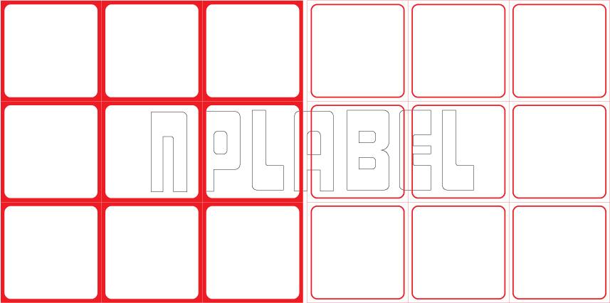 ML5050 General Purpose Sticker Size 50x50mm