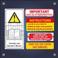 Machinery Maintenance Labels