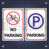 Parking & No Parking Signs Name Plates