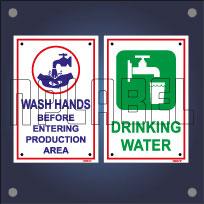 Potable Non-Potable Water Signs Name Plates