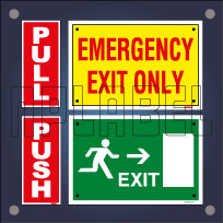 Push-Pull & Exit Signs Stickers & Labels