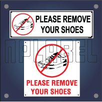 Remove Your Shoes Sign Name Plates