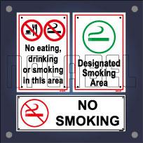 Smoking & Drinking Area Sign Name Plates