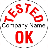 Customize Tested OK Stickers - TK001