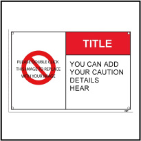 152608 Caution Warning Label Template