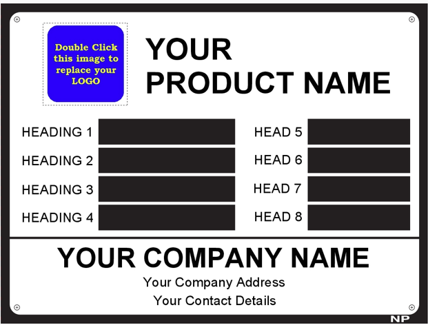 Metal Label Template Data006