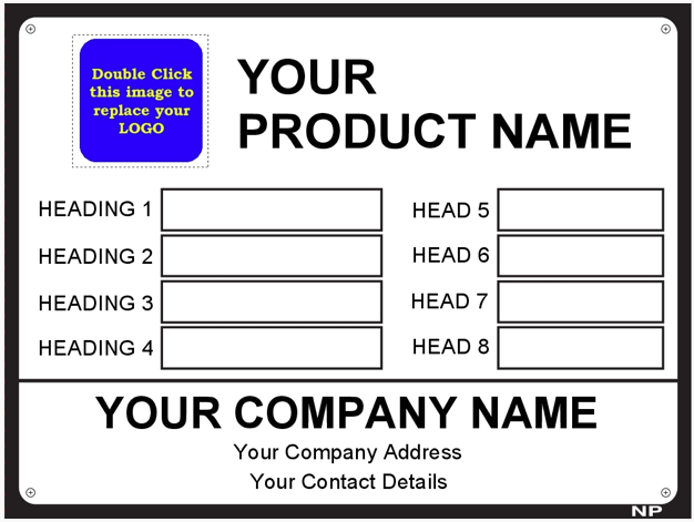Metal Label Template Data007